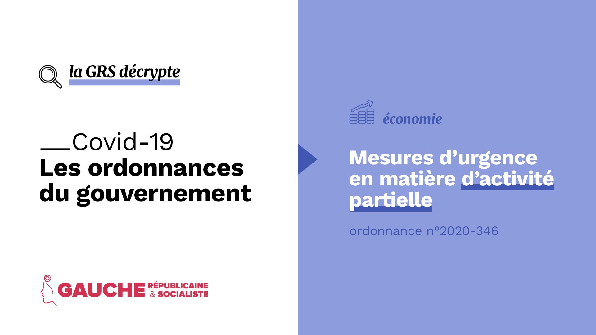 Ordonnance n° 2020-346 du 27 mars 2020 portant mesures d'urgence en matière d'activité partielle