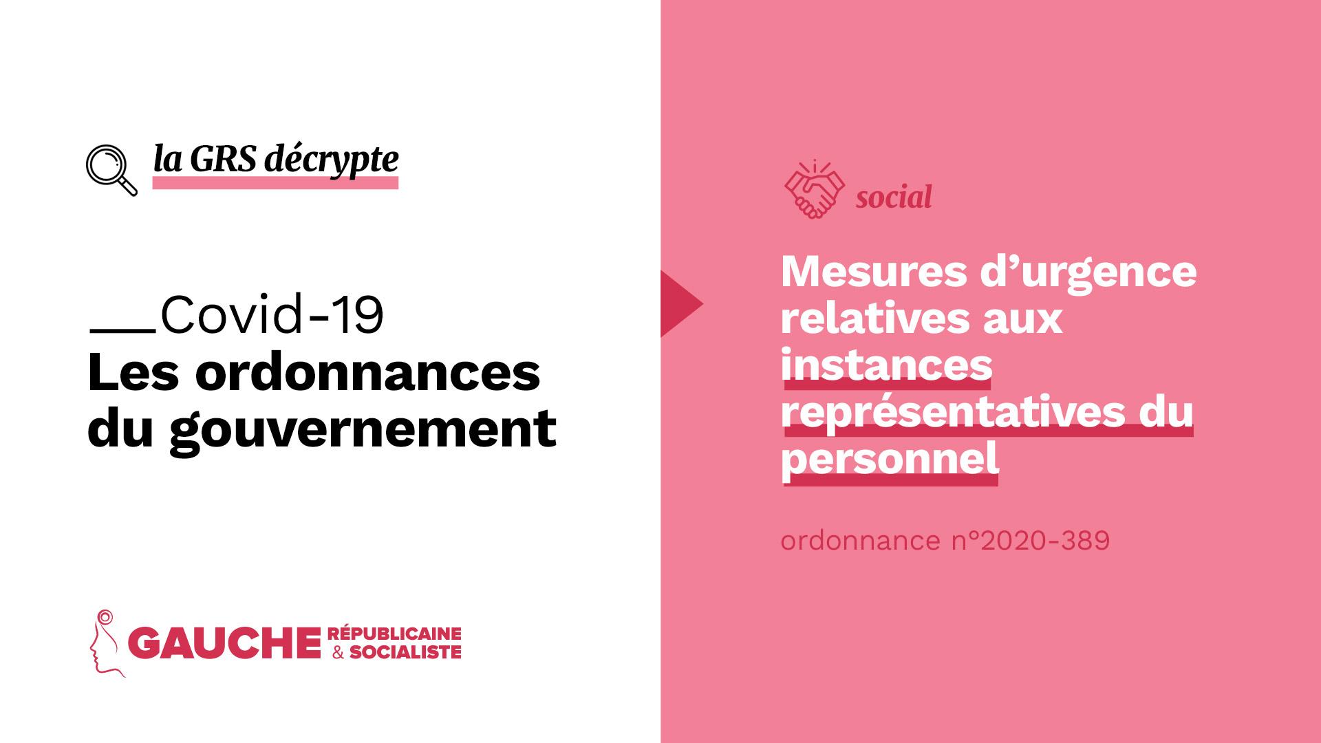 Ordonnance n° 2020-389 du 1er avril 2020 portant mesures d'urgence relatives aux instances représentatives du personnel