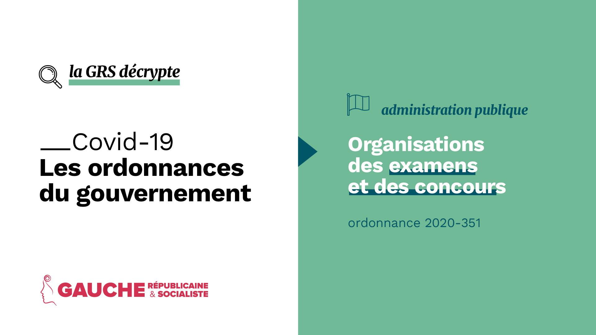 Ordonnance n° 2020-351 du 27 mars 2020 relative à l'organisation des examens et concours